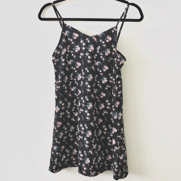 H&M Floral Print Mini Slip Dress